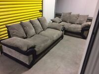 3 + 2 brushed cord sofas in excellent condition with cushions // free delivery