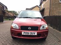 2001/51 SUZUKI IGNIS 1.3 Gl Automatic Burgundy Metallic *VERY LOW MILEAGE 13K* Auto