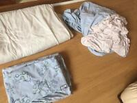 **reduced Blue & White Cot/cotbed bedding