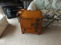 STAINED PINE MINI CHEST OF DRAWERS BEDSIDE CABINET MEXICAN PINE