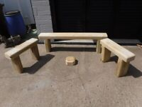 Solid pine bench seats