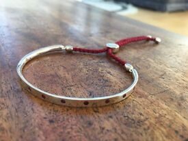 Monica Vinader Red Fiji Friendship Bracelet Sterling silver with real Ruby stones