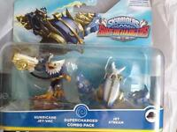 Skylanders supercharged combo pack hurricane jet vac and jet stream new