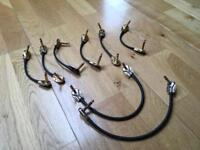 8 Mogami Patch Cables - 6 Gold Plated, 2 Silver Plated