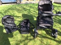 Britax B Dual Double Buggy Travel System