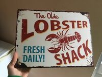 Lobster wall sign