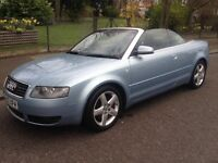 2002 CONVERTIBLE AUDI A4 WITH 1 YEAR MOT AND TAX QUICK SALE