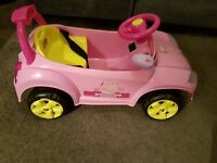 Peppa Pig 6v Pink Electric Ride On Car Girl Foward/Reverse/Steering control Toy