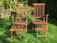 Hardwood Garden Steamer Chairs