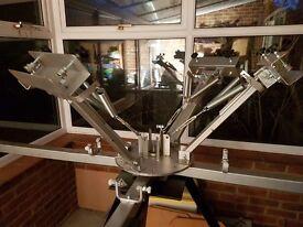 Screen Printing Carousel - Tshirt Printing With Heat Lamp
