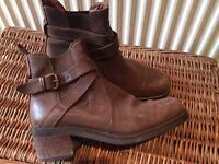 Russell & Bromley Brown Leather boots