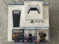 *Brand New Sealed PS5 Disc Version* 3 Games & Extra controller