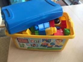 Box full of mega bloks