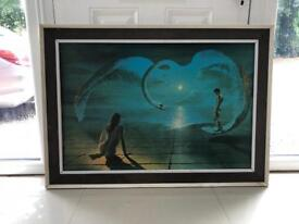 """""""Wings of Love"""" printed picture in original frame 1054mmx752mm by S Pearson."""