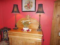 TALL PAIR OF ELEGANT TABLE LAMPS.