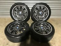 """18"""" GENUINE BMW M3 STYLE 67 STAGGERED WHEELS AND TYRES(E46,330,320,323,325,318,335,D.CI,M SPORT)"""