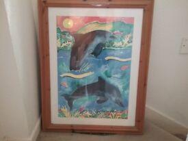 Print in pine frame
