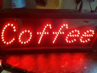 Neon coffee sign/light