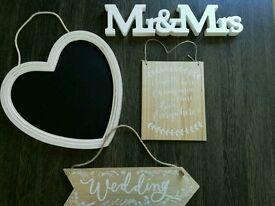 Wedding bundle including signs