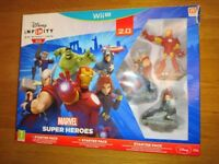 Nintendo Wii U Disney Infinity 2.0 Marvel Super Heroes Starter Set 100% With Box As New Condition