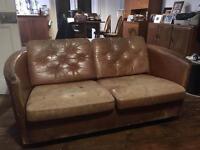 Rétro 2 Seater leather sofa