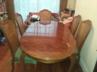 Rococo Italian Dining Table with 6 chairs in excellent condition.