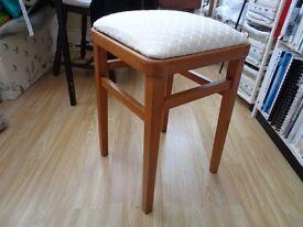 Pine wooden stool