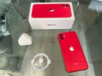 Red Apple Iphone 11 64GB Factory Unlocked To All Networks + Apple Warranty