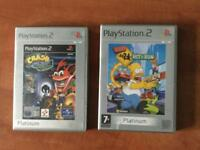 Ps2 games crash bandicoot Simpson's hit and run