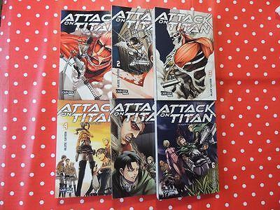 Attack on Titan Band 1 - 6 deutsch Manga Hajime Isayama