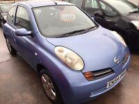Nissan Micra 1.2 E 3dr 2004 45000 MILES 6 months mot £999