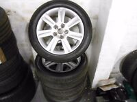 Genuine Audi A4 Alloys & Very Good Tyres!!
