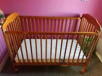 Baby Cosatto Cot Bed With Mattress