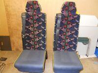 Minibus seats for sale.