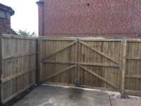 Driveway gate wooden gate garden gate