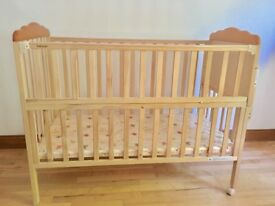Lovely Pine Wood Cot (upto Toddlers) with additional small Baby Crib (From 0m to 3 or 4 months)