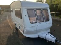 Fleetwood Garland 2 berth caravan with power touch motor mover and very lightweight