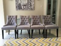 4 Grey Dining Chairs From 'Made'