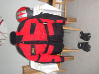 """Motorcycle Jacket fits 44"""" chest ,Helmet and Gloves"""