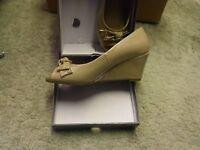 Cream colour shoes