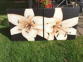 Lilly canvas paintings