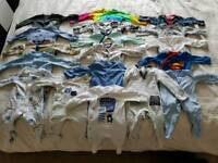 0-3 month bundle of baby boy sleepsuits