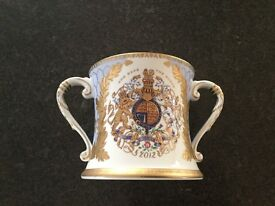 Rare Queen Elizabeth II Limited Edition Diamond Loving Cup