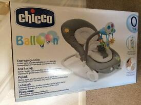 Brand new in box chicco balloon bouncer