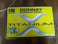 Box of 15 Donnay International Titanium Golf Balls - never used