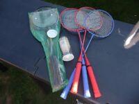 badminton rackets and shuttle cocks