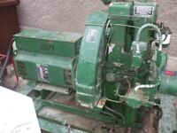 17KVA.14KW TOP OF THE RANGE 1500RPM TWIN CYLINDER 3 PHASE LISTER HB2 HAWKER SIDDELEY POWER PLANT,