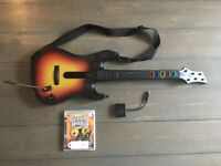 PS3 Guitar Hero World Tour Guitar Controller (with Dongle) + Legends of Rock Game