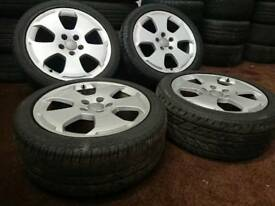 "Genuine OEM Audi A3 17"" 5x112 alloy wheels + 2 tyres vw seat skoda caddy golf"