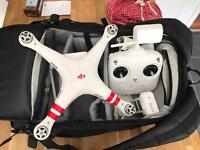 DJI Phantom Vision 2 Plus -includes 2 batteries and case 1080p camera drone